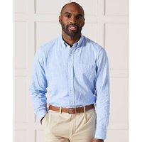 Pale Blue Linen-Blend Shirt XL Standard