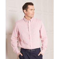 Red Linen-Blend Shirt L Standard