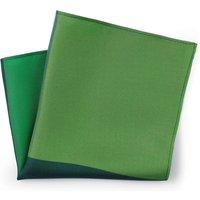 Shades of Green Silk Pocket Square.