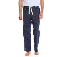 Navy White Check Brushed Cotton Lounge Pants XXL