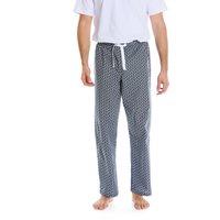 Navy White Paisley Print Cotton Lounge Pants XL
