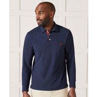 Navy Long Sleeve Polo Shirt XL