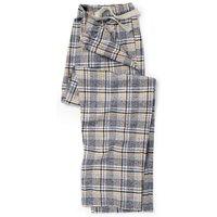 Black Grey Mustard Check Brushed Cotton Lounge Pants M