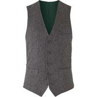 "Grey Tweed Herringbone Waistcoat 44"""