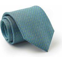 Blue Green Yellow Link Print Silk Tie