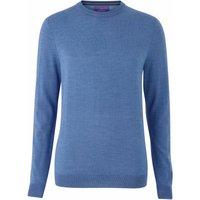 Mid Blue Merino Wool Crew Neck Jumper L