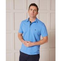 Ocean Blue Short Sleeve Polo Shirt XL