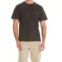 Khaki Cotton Jersey Crew Neck T-Shirt S
