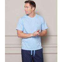 Pale Blue Cotton Jersey Crew Neck T-Shirt L