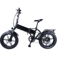 20 inch  Alloy Electric Bike Snow Foldable electric Bicycle with Bafang All in one Rear Motor 48V 750w with Tail Light