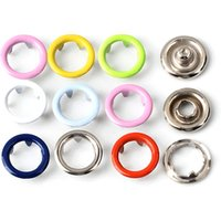 Good Price Factory Directly Supplier Crystal Pearl Metal Ring Prong Snap Buttons for Baby Clothes Clothing