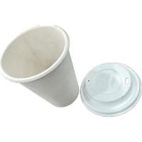 'Lids Biodegradable 350ml Sugarcane Bagasse Paper Coffee Cup  Lid