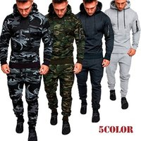 2019 Mens Fashion Hoodies Suits Camouflage Clothing Popular Style Jacket Outdoor Tracksuit