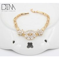 DTINA Adjustable Wire Bangle 18k Gold Plated Costume Jewelry Bracelet