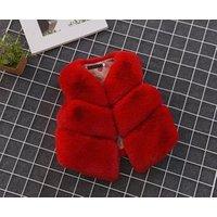 new childrens pure color baby girl fur vest imitation fur waistcoat baby faux  fur vest