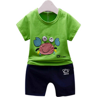 EG-SYG129 New fashion two pieces sets summer children clothes baby shirt animal pattern clothing sets