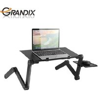 Recliner aluminum folding laptop table stand with cooling fan and mouse pad for bed