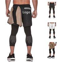 Mens Custom Running  Sports Gym Jogger Sweat Yoga Shorts Trousers Pants
