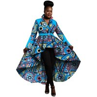 Wholesale African Trench Coat for Women African Tops Clothing Africa Print Outfits Dashiki Office Outwear Plus Size WY1266