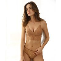 Ultra-thin sexy lace gathered bra suit French-style girl bralette bra underwear set