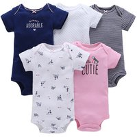 5 Pack Newborn Baby Romper set Cute Baby Suit Toddler Clothes