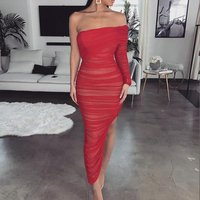 Buy wholesale high quality taobao agent vintage evening party lady woman backless dress