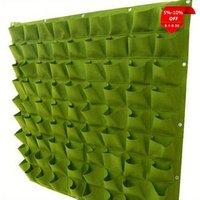 Green Vertical Living Home 65 Pockets Garden Grow Planting Bags Hanging Wall Planter