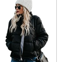 Women Fashion Casual Mammoth Pocketed Puffer Jacket