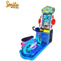 Electric Kids Coin Operated 2 Players Bicycle Rider Bike Racing Game Machine Play With Token