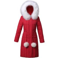 Accept Custom 100% Polyester Women Ladys Winter Quilted Long Padding Down Jacket Coat Woman Clothing