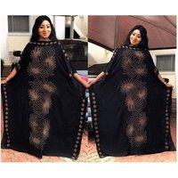 Islamic Clothing Black Abaya Arabic Dress African Female Clothes Full Sleeve Jilbab/Kaftan/Kimono Custom Dubai Dress Abaya