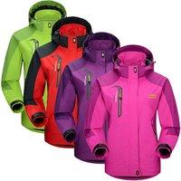 Women Windbreaker Waterproof Camping Hiking Jacket Women Outdoor Sports Coat For Climbing Cycling Fishing