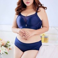 brassiere ladies brief sets panty big boobs lace large bosom dress thin women bra and panty push up plus size  big size bra