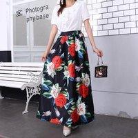 OEM 2019 Wholesale Flower Long Pencil Skirt