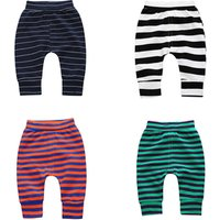 Can be opened spring autumn winter children thickening terry trousers harem pants baby boys and girls leggings