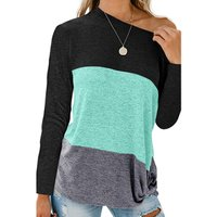 Wholesale New Fashion Women Crew Neck Blouse  Long Sleeve Women Tunic Tops