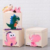 Cute Animals Felt Fabric Foldable Kids Toy Storage Box Bins For Home