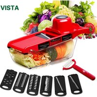 'Vegetable Cutter With Steel Blade Mandoline Slicer Potato Peeler Carrot Cheese Grater Vegetable Slicer Kitchen Accessories