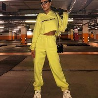 online shopping fall boutique jogger casual women athletic apparel crop top hoodie two piece outfits