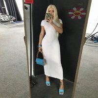 women short sleeve maxi long dress 2019 New Arrivals solid white bodycon vestidos sexy robe longue boho dress