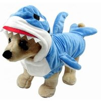 'Pgpc0246 Wholesale Clothes Designer Cute Halloween Cosplay Dog Clothes Funny Plush Shark Pet Costume