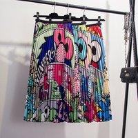 Latest Fashion New Arrival Clothing Women Half Elastic Waist Maxi Long Satin Pleated Dress Skirt
