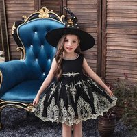 Red wedding gown for  1-10 years old   flower girl dress for  birthday party   Halloween performance dress wiht hat
