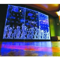 Top quality led waterfalls Hanging light water Bubble wall for home decor acrylic panel