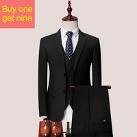 The Newest Custom Autumn Formal Tuxedo Suits Slim Fit Men Business Suit