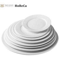 Cheap Restaurant Bulk Porcelain Appetizer Plates Ceramic Dinner, Manufacturer Stock White Platter Plate!