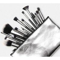 Custom Logo Makeup Brush  Professional Manufacturing MAANGE  15Pcs /Set With PU Bag Natural Soft