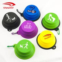 'Custom Logo Foldable Cat Food Water Travel Silicone Tpe Collapsible Dog Pet Feeding Bowl