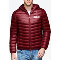 High Quality Mens Light Weight Down Jacket With Hood Windproof Ultralight Hooded Feather Winter Jacket Coat