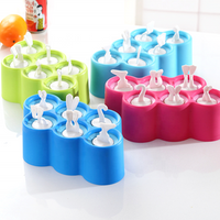 'Summer Hot Selling Lovely Design Silicone Ice Cream Maker Ice Pop Silicone Ice Pop Popsicle Mold